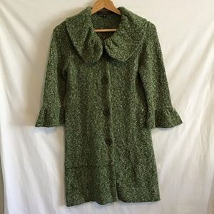 Fever Duster Length Knit Cardigan Size S